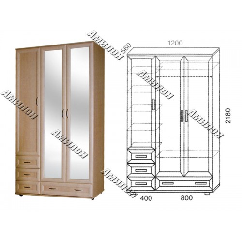 Шкаф универсальный 158 «МС»