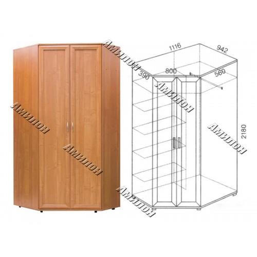 Шкаф угловой 145 «МС»